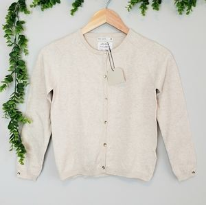 NWT Zara Girl Cardigan with Gold Buttons